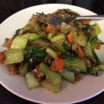 Sautéed Bok Choy, Shiitakes, Carrots, and Onions